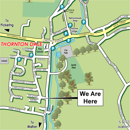 Location map of thornton dale