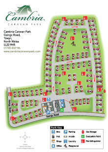 finchale holiday park maps