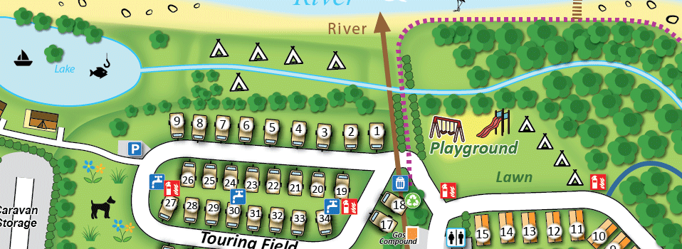 holiday park caravan park map sample