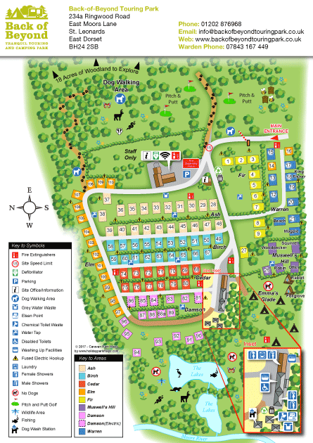 3d style holiday park sample map